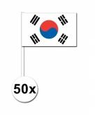 50 stuks zwaaivlaggetjes zuid korea