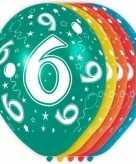 5x gekleurde 6 jaar ballonnen 30 cm
