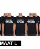 5x vrijgezellen t-shirt vrienden die sukkel gaat trouwen zwart heren maat l