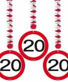 6 x 20e verjaardag rotorspiralen versiering