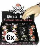 6x kinder armbandjes piraten thema