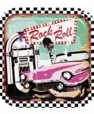 6x rock and roll feest bordjes 23 cm