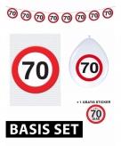70 jaar verjaardag versiering set basic stopbord