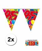 85 jaar vlaggenlijnen 2x met gratis sticker