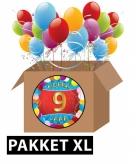 9 jaar feestartikelen pakket xl