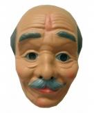 Abraham masker kaal met snor