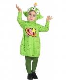 Alien jurkje verkleedkostuumvoor peuters