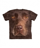 All over print t-shirt bruine labrador