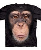 All over print t-shirt met chimpansee aap 10090058