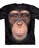 All over print t-shirt met chimpansee aap 10090058