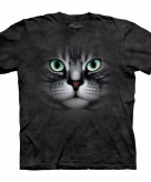All over print t-shirt met cyperse kat