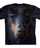 All over print t-shirt met doberman