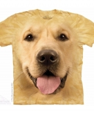 All over print t-shirt met golden retriever hond 10090004
