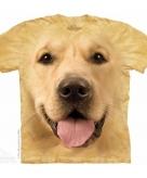 All over print t-shirt met golden retriever hond 10090004