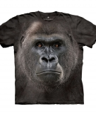 All over print t-shirt met gorilla
