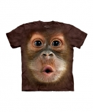 All over print t-shirt met orang oetang