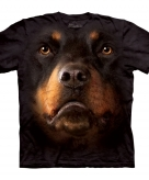 All over print t-shirt met rotweiler