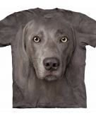 All over print t-shirt met weimaraner hond