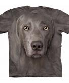 All over print t-shirt met weimaraner hond