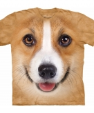 All over print t-shirt met welsh corgi pembroke hond 10090043