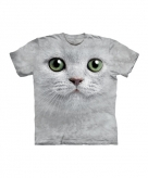 All over print t-shirt witte kat
