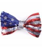 Amerikaanse vlag vlinderstrikje voor volwassenen