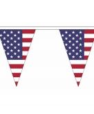 Amerikaanse vlaggenlijn van stof 20 m