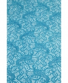 Aqua blauw tafelloper 150 x 40 cm