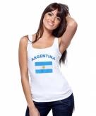 Argentijnse vlag tanktop t-shirt voor dames