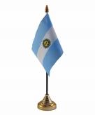 Argentinie versiering tafelvlag 10 x 15 cm