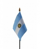Argentinie vlaggetje polyester