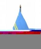 Aruba vlaggetje polyester