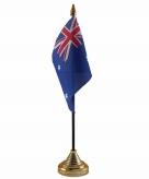 Australie versiering tafelvlag 10 x 15 cm