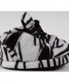 Baby pantoffeltjes zebra zwart wit