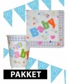 Babyshower decoratie pakket blauw