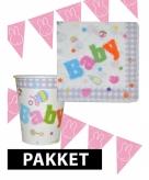 Babyshower decoratie pakket roze