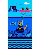 Badlaken diving school voor kinderen 70 x 140 cm