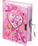 Ballerina dagboekje met slot