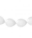 Ballon slinger wit 3 meter