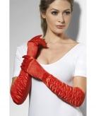 Ballroom handschoenen rood