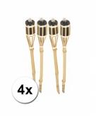 Bamboe fakkels 4 stuks