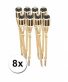 Bamboe fakkels 8 stuks
