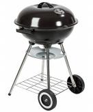 Barbecue op wieltjes zwart 73 cm