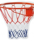 Basketbal ring met net
