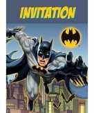 Batman verjaardags uitnodigingen 8 stuks