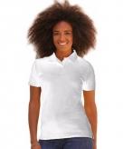 Bedrijfskleding wit dames poloshirt katoenblend