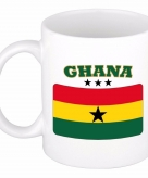 Beker mok met vlag van ghana 300 ml