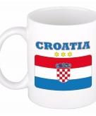 Beker mok met vlag van kroatie 300 ml