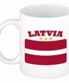 Beker mok met vlag van letland 300 ml