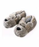Berenkop pantoffels voor heren grijs